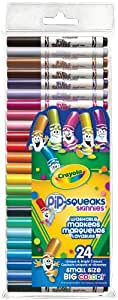 Crayola 24 Pip-Squeaks Skinnies Fine Line Washable Markers