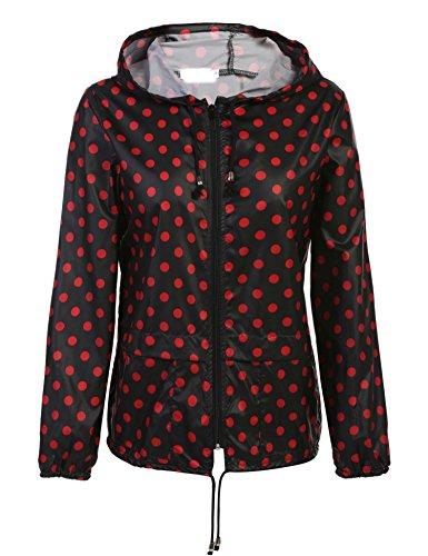 Vent Multi Style 320 Manteau Impermable Coorun Veste Femme Coupe De Pluie Zipp Rouge CaC4B1wq