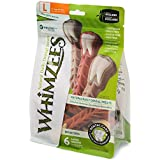 Whimzees Natural Grain Free Dental Dog Treats, Large Brushzees, Bag Of 6