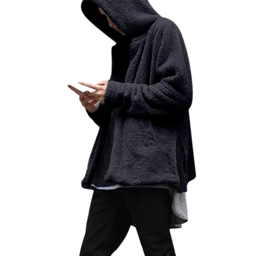 2018 New Hot Sale!Fashion Men's Autumn Winter Casual Loose Double-sided Plush Hoodie Coat Top PASATO Classic Top Blouse