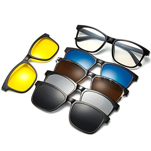 Rectangular Plastic Frame Sunglasses - 7