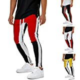 Geetobby Men Sweatpants Elastic Pants Workout Sport Jogging Fitness Trousers