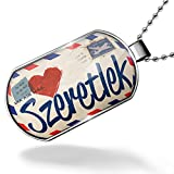 Dogtag I Love You Hungarian Love Letter from Hungary Dog tags necklace - Neonblond