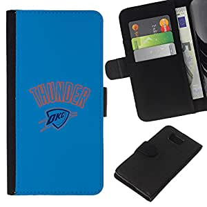 Aceptar Trueno Baloncesto - la tarjeta de Crédito Slots PU Funda de cuero Monedero caso cubierta de piel Para Samsung ALPHA G850