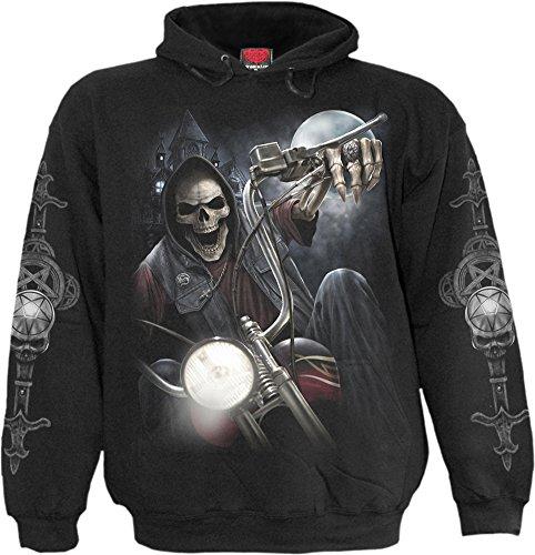 Spiral - Mens - NIGHT CHURCH - Hoody Black - XL (Skeleton Hoodies)