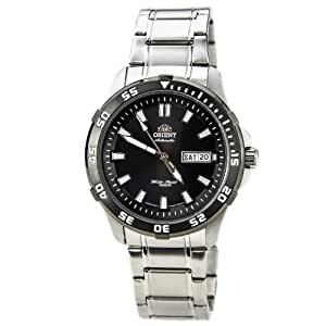 Orient em7c002b - Reloj de pulsera hombre, acero inoxidable, color plateado