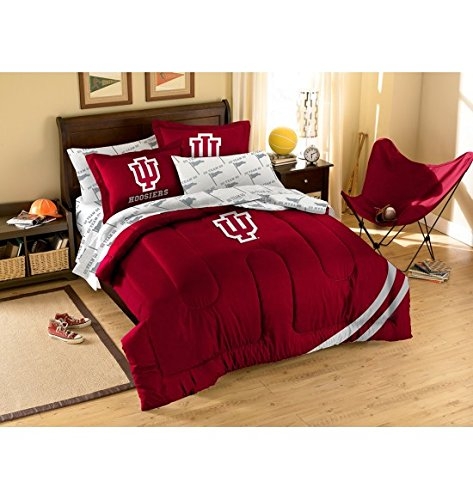 NCAA / MLB / NBA / NFL-Full Size Applique 7 pc Comforter Set-Many different Teams! (Indiana Hoosiers, Full (Indiana Hoosiers Bed Set)