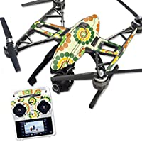 Skin For Yuneec Q500 & Q500+ Drone – Hippie Flowers | MightySkins Protective, Durable, and Unique Vinyl Decal wrap cover | Easy To Apply, Remove, and Change Styles | Made in the USA