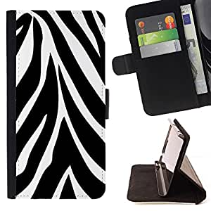 Momo Phone Case / Flip Funda de Cuero Case Cover - Modelo de la cebra abstracta - Samsung Galaxy S6 EDGE