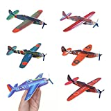 """MS 24pcs Novelty 8"""" Flying Glider Planes Toy For Party Kids Hand Launch, Styrofoam Assorted Easy Assembly"""