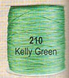 #210 Kelly Green Chainette Shawl Fringe - 1800 ft Spool