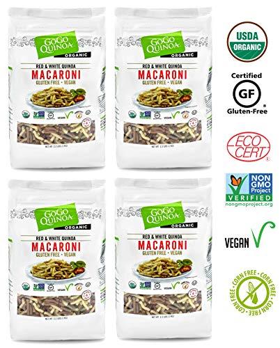 GoGo Quinoa Organic Premium Quality Vegan Red and White Macaroni Pasta, Non-GMO Project Verified & Kosher Certified 8.8 Lbs