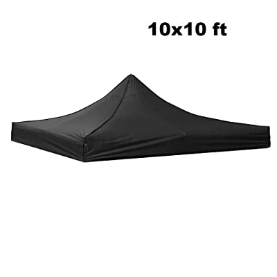 Awesome and Durable Pop Up Canopy Outdoor Tent Folding Gazebo Party Sun Shade Shelter 10x10 ft (Canopy Cover - Black) : Garden & Outdoor