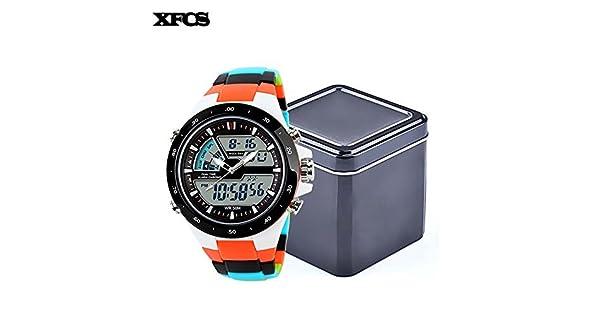 aa5cb2fe3509 xfcs Nuevos deportes reloj de silicona resistente al agua muñeca digital  automático relojes para hombre digitais Reloj Running Mens digitales reloj
