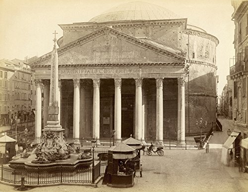 Posterazzi Poster Print Collection Roman C1890./the Pantheon in Rome from the Piazza Della Rotonda, (18 x 24), Varies