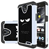 zte prelude 2 cell phone - ZTE Prestige 2 Case, ZTE Maven 3 Case, ZTE Prelude Plus Case,ZTE Overture 3 Case, LEEGU [Shock Absorption] Dual Layer Heavy Duty Protective Silicone Plastic Cover Rugged Case - Don't Touch My Phone