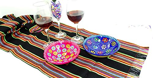 - Black Mexican Table Runner 14x72, Aztec Table Cloth, Mexican Wedding, Mexico table runner