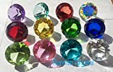Crystal Clear Diamond Jewel Paperweight Birthstone Box Set (12pcs), 40mm By Sunrise Crystal