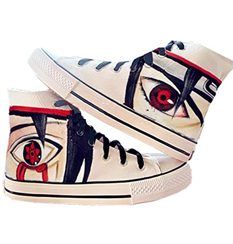 Fanstown Naruto Hand Painting Canvas Schoenen Coole Sneaker + 1 Poster 6