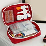 bjduck99 First Aid Bag Empty Emergency Medical Bags Home Outdoor Survival Pouch - Red
