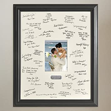 Amazon.com - Personalized Wedding Wishes Signature Frame with ...