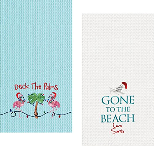 C&F Tropical Holiday Embroidered Towel Set, 1 Each