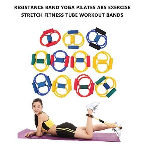 ouying1418 Resistance Band Yoga Pilates Abs Exercise Stretch ...