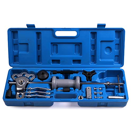 ECCPP Slide Hammer Puller Bearing Removal Tool Kit Internal and External 3 Jaw Puller Grip Wrench Adapter Fit for Flange-Type Rear - Axle Bearing Auto