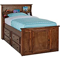 Catalina Chestnut Twin Bookcase Bed