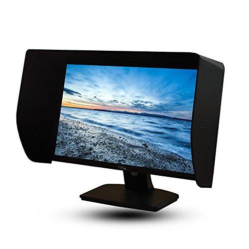 iLooker-20E 19-20 Inch Black LCD LED Video Monitor Sunshade Hood for 460-480mm Width Monitor Frame ()