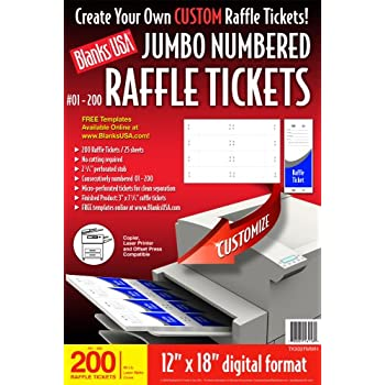 numbered raffle tickets