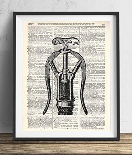Vintage Corkscrew Illustration Dictionary Art