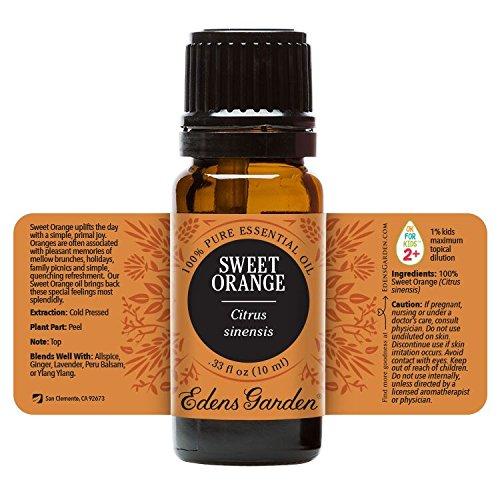 Sweet Orange 100% Pure Therapeutic Grade Essential Oil by Edens Garden- 10 ml