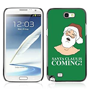 Designer Depo Hard Protection Case for Samsung Galaxy Note 2 N7100 / Santa Claus Is Coming