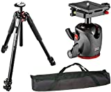Manfrotto MT055XPRO3 055 Aluminium 3-Section Tripod with Horizontal Column w/ MHXPRO-BHQ6 XPRO Ball Head with Top Lock Quick-Release System and a 35'' Padded Case
