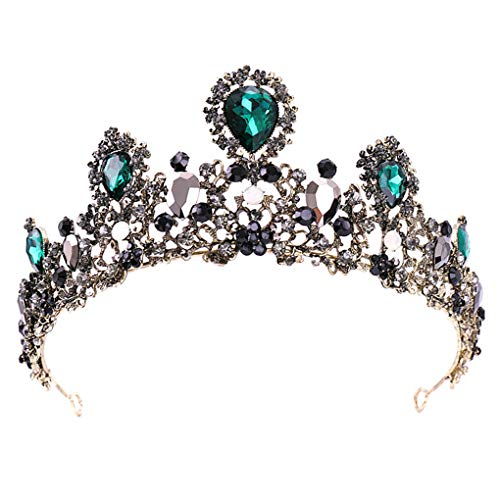 Leiothrix Rhinestone Crowns and Tiaras Baroque Wedding Crown Bridal Hair Accessories Crown for Prom Queen ()