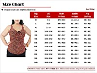 Spring fever Women's Plus Size Ruffle Lace Swimsuit Floral Tankini Swim Dress
