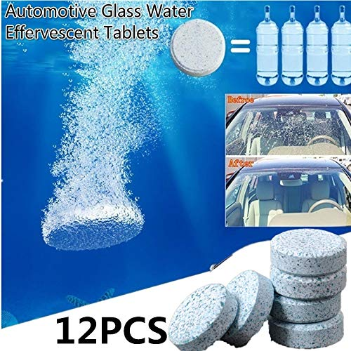 - EDTara Window Cleaning Tablets Car Windshield Glass Washer Cleaner Compact Effervescent Tablets Detergent 6 Pcs/Set
