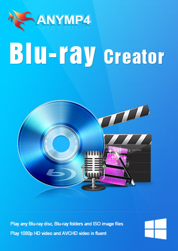 - AnyMP4 Blu-ray Creator 1 Year License - Create Blu-ray disc/folder, ISO image file with any video file like MP4, MKV, AVI, WMV, MOV and more [Download]