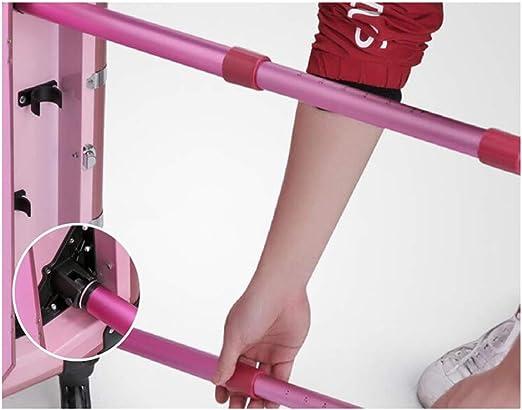 Estuche cosmético 3 en 1 Estuche de maquillaje profesional grande, organizador con compartimientos Maquillaje Belleza Estuche para uñas Trolley Caja con ruedas Rosa,Rosado: Amazon.es: Belleza