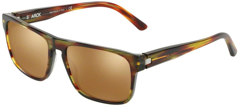 Sunglasses Starck eyes SH 5023 0002F9 HAVANA RED//POINTILLE BLACK