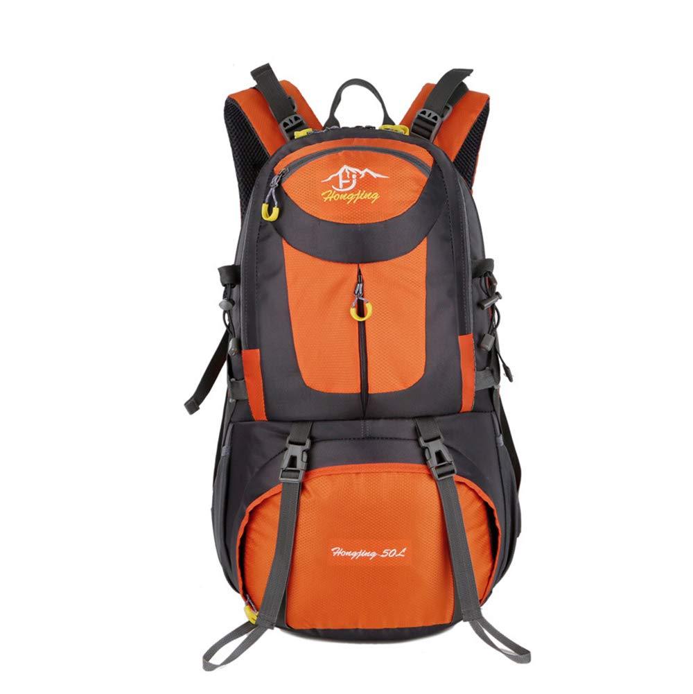 Orange-50L  CXJC Sac à Dos De Randonnée Pédestre Nylon Water Resistang Randonnée Camping voyage Alpinisme pour Les Voyages Trekking Voyage Sac à Dos,Orange-40L