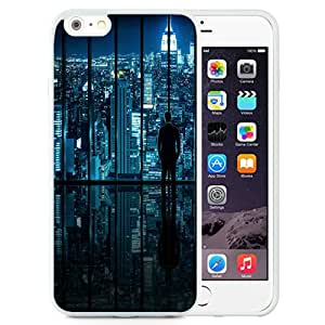 Fashionable Custom Designed iPhone 6 Plus 5.5 Inch Phone Case With New York Glass Window View_White Phone Case