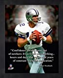 Roger Staubach Dallas Cowboys NFL Pro Quotes Framed 8x10 Photo