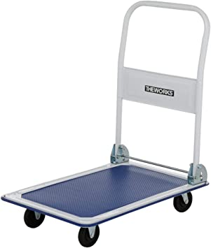 330 Lb Capacity Folding Platform Hand Truck Hand Truck Dolly Cart Cart Utility Cart Office Supplies Dollies For Moving Portable Dolly Four Wheeled Trol Amazon Com