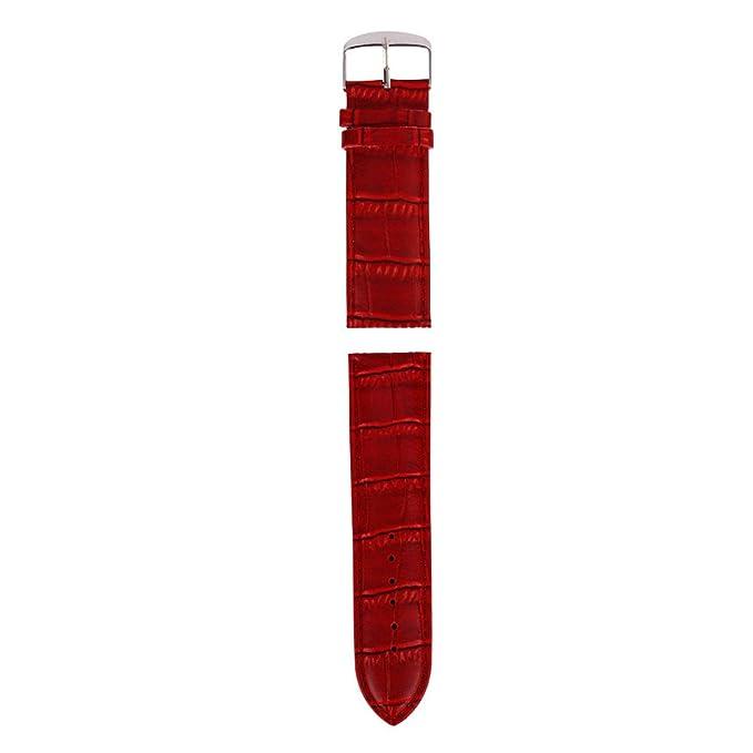 JiaMeng Reemplazo Pulsera de Banda Artificial Cuero Correa de Cuero de la Venda Suave 20m m Correa del Reloj de la Hebilla(Armada): Amazon.es: Ropa y ...