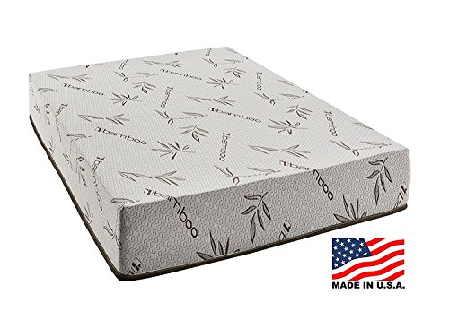 Customize Bed 6 Inch Gel Memory Foam Mattress with Bamboo Cover, Student size 36x74 for RV, Cot, Folding, Guest & Day Bed-- CertiPUR-US Certified
