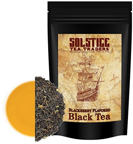 Blackberry Flavored Loose Leaf Black Tea (8-Ounce Bulk Bag), Makes 100+ Cups of Tea ()