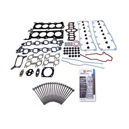 Head Gasket Set Bolt Kit Fits: 04-08 Ford E150 E250 E350 F150 4.6L V8 SOHC 16v VIN W ()