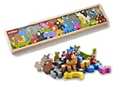 BeginAgain Animal Parade A to Z Wooden Puzzle